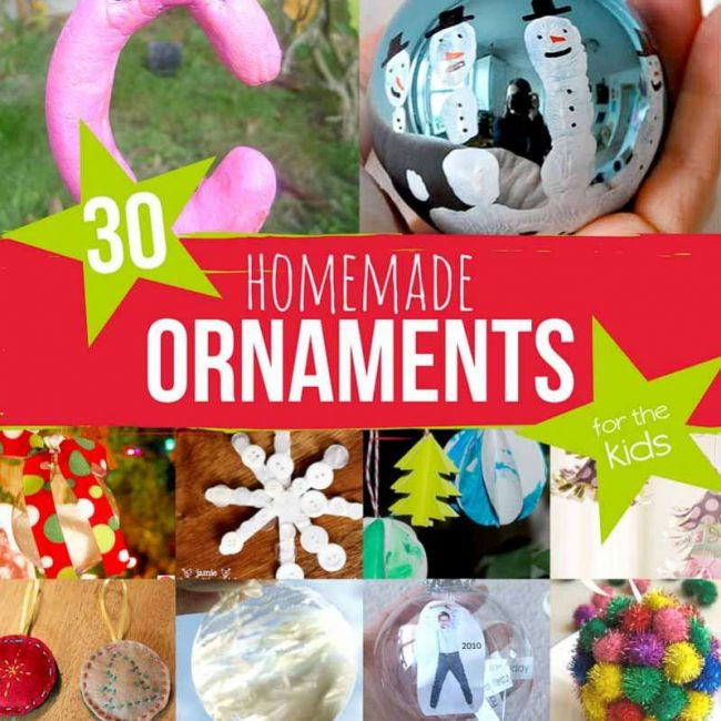30 homemade ornaments for kids to make - Kids Christmas Ornaments