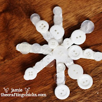 popsicle stick snowflakes - Kids Christmas Ornaments