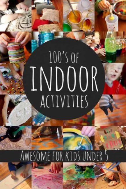 Hundreds Of Indoor Activities For Kids Under 5