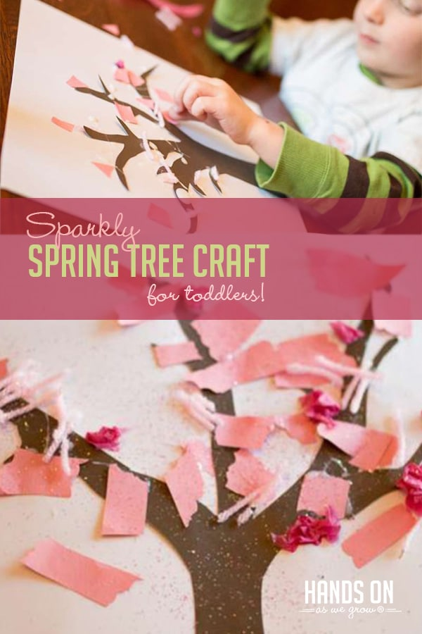 Sparkly Spring Tree Craft For Toddlers To Make Hands On As We Grow