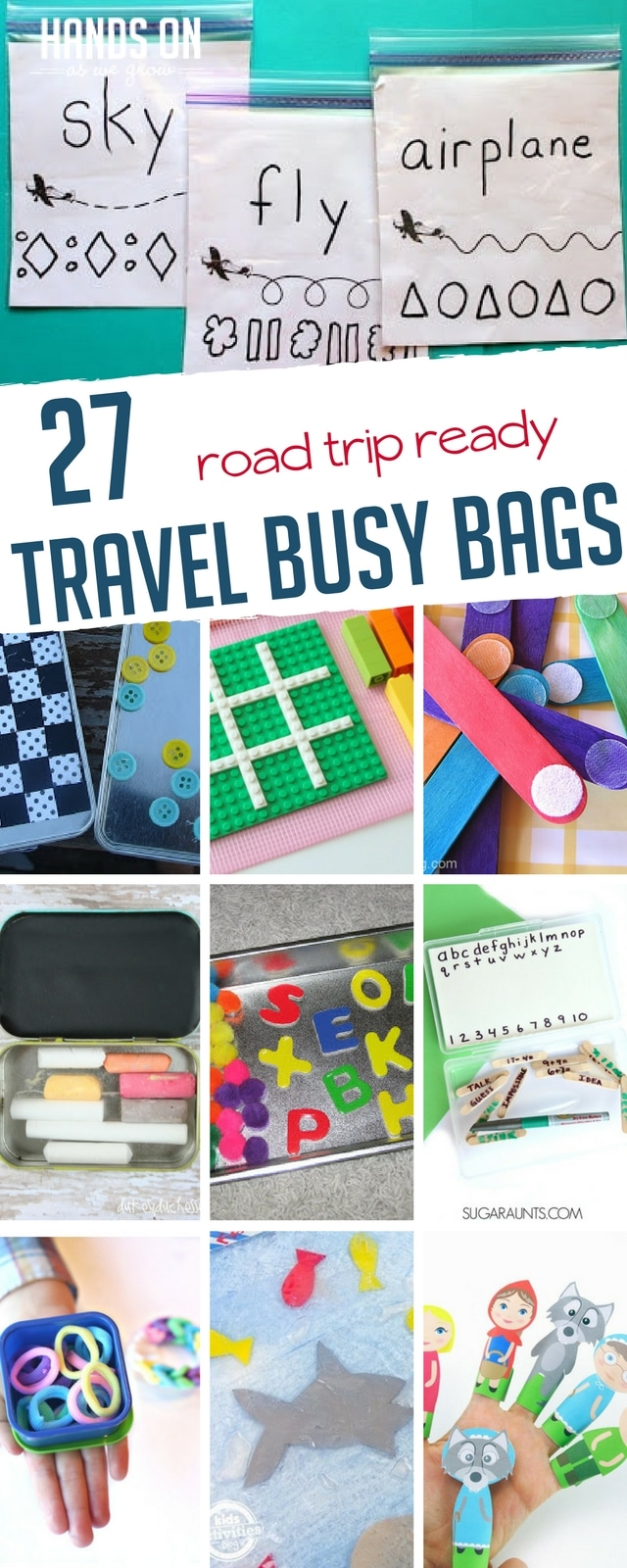 Keep the fun going on the road with 27 awesome busy bag ideas that are perfect for road trips!