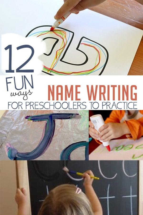 Practice Name Writing In 12 Fun Ways For Preschoolers