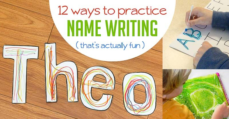 Practice Name Writing Preschoolers on Wet Dry Worksheet And Kindergarten