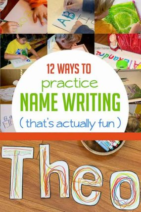 12 fun ways to practice name writing for preschooler -- that will actually have them interested in trying to write it!