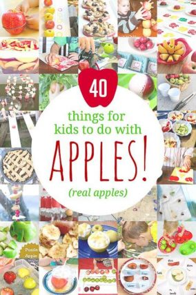 Things for kids to do with apples! 40 apple activities for kids using real apples!