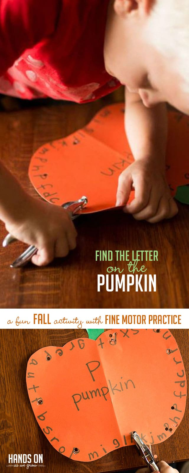 Help your preschooler learn to find the letter