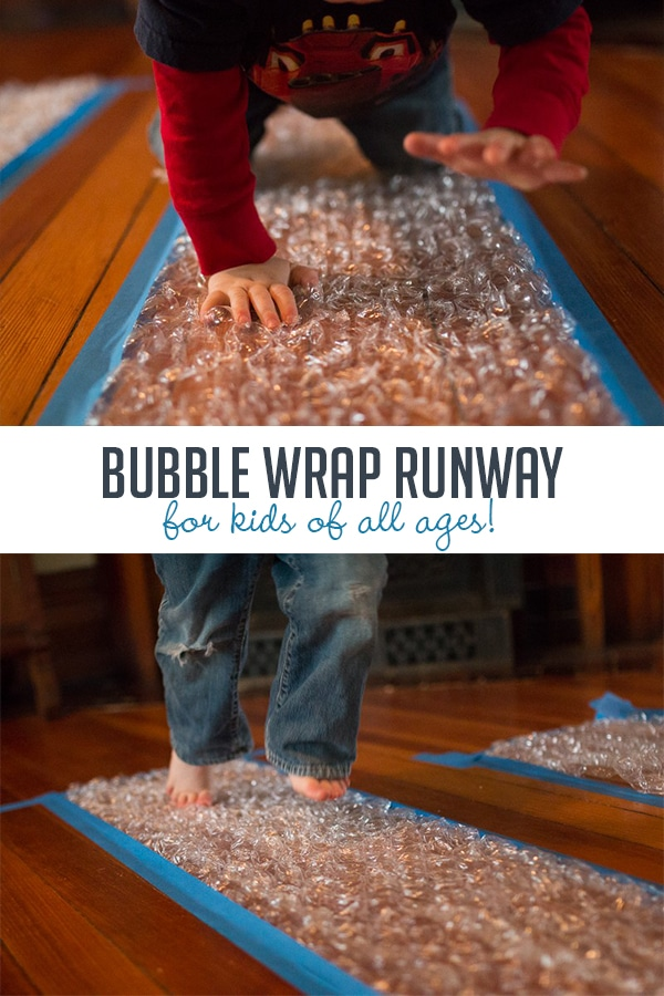 a0dc7b771 Make a Bubble Wrap Runway for Kids of All Ages | Hands On As We Grow®