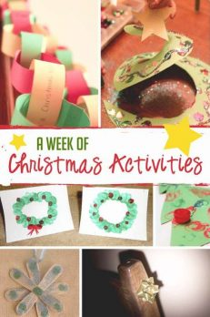 A week of Christmas activities to do with young kids.