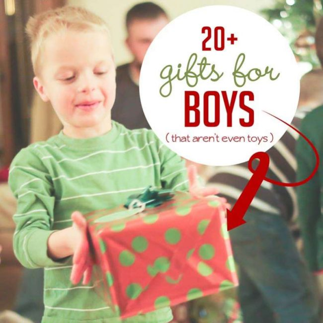 some great non toy gifts for boys this year