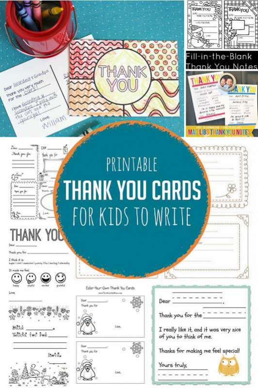 Printable thank you cards for kids to write hands on as we grow simple printable thank you cards for kids to write to gifts they loved getting spiritdancerdesigns Gallery