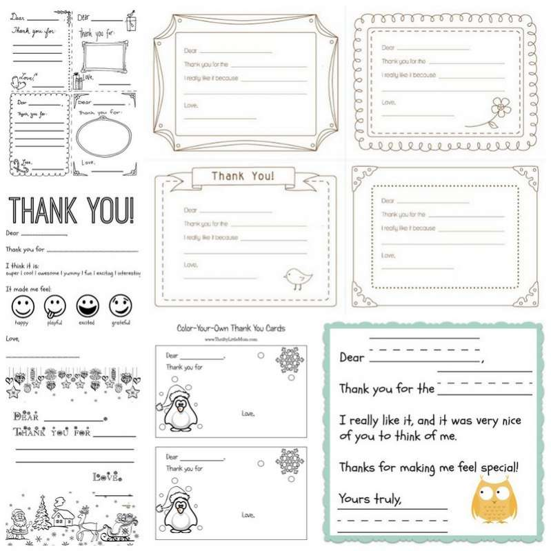 photo about Printable Thank You Cards for Students known as Printable Thank Oneself Playing cards for Children toward Generate Fingers Upon As We