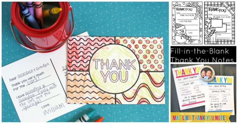 image regarding Fill in the Blank Thank You Cards Printable named Printable Thank On your own Playing cards for Little ones in the direction of Generate Palms Upon As We