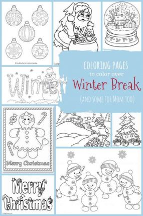 Coloring Pages to Color over Winter Break