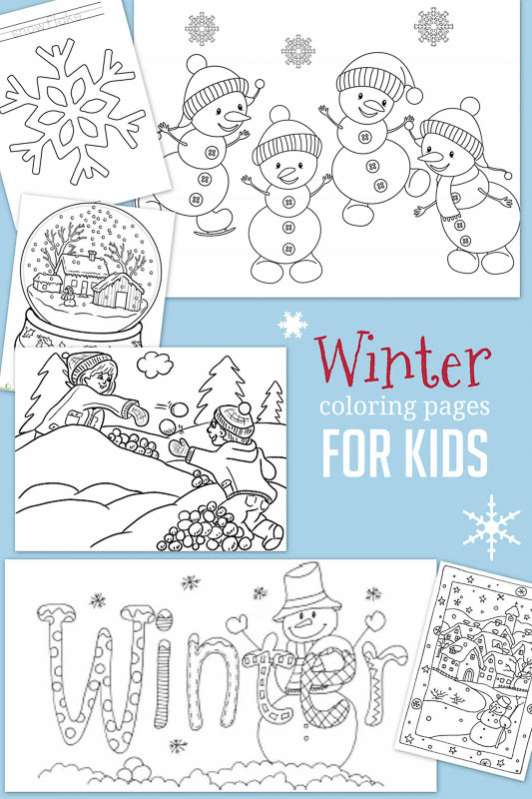 Christmas amp Winter Coloring Pages