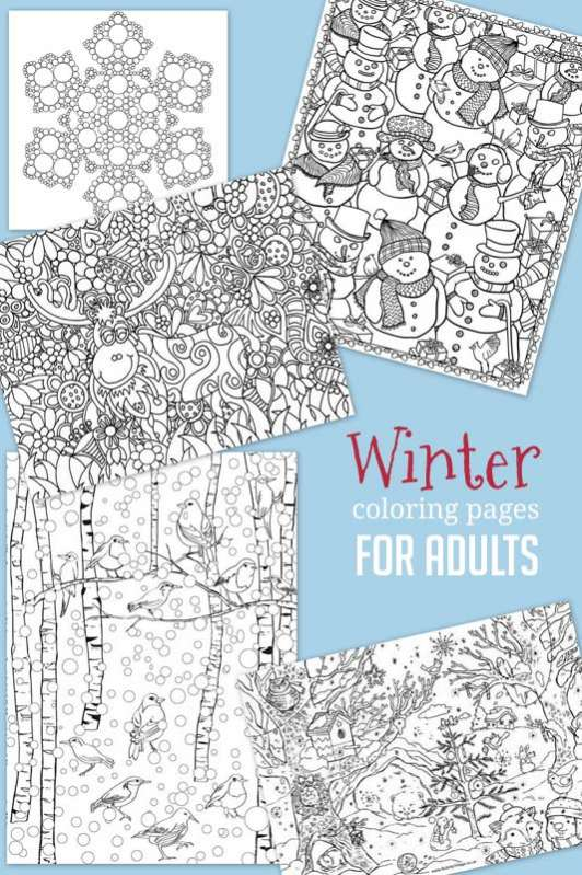 winter coloring pages for adults - Winter Coloring Pages For Adults