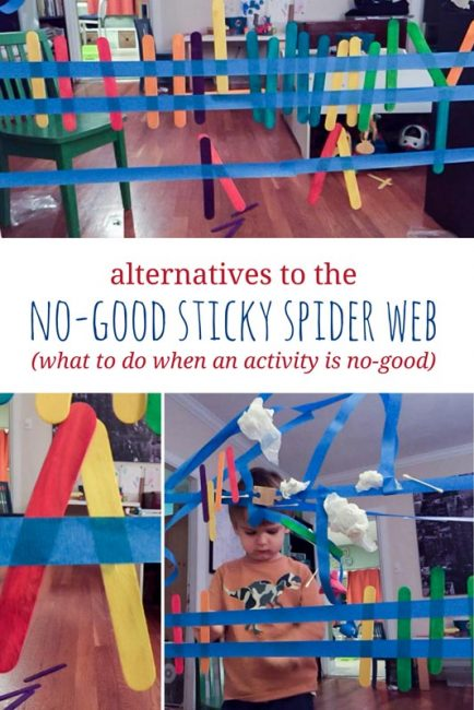 What to do when an activity is no-good - alternative ways to do the sticky spider web activity