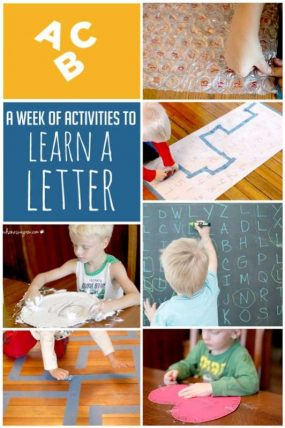 A week of activities to focus on one letter for the week.