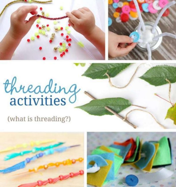 8d8b5a8de07 What is threading? Plus lots of threading activities to do with the kids