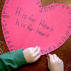 Clip The Letter H on the Heart Activity for Valentine's Day