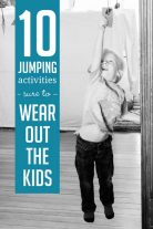 Jumping activities are sure to wear out the kids!!!