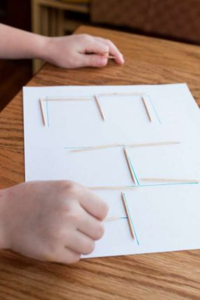 Tracing Letters & Shapes with Toothpicks