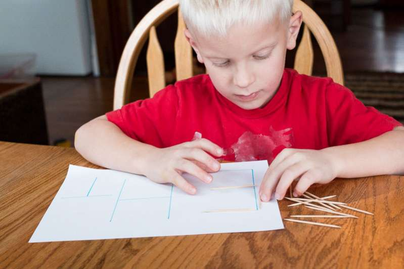 tracing letters shapes with toothpicks hands on as we grow. Black Bedroom Furniture Sets. Home Design Ideas