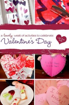 Valentine's Day week of activities to kids to celebrate