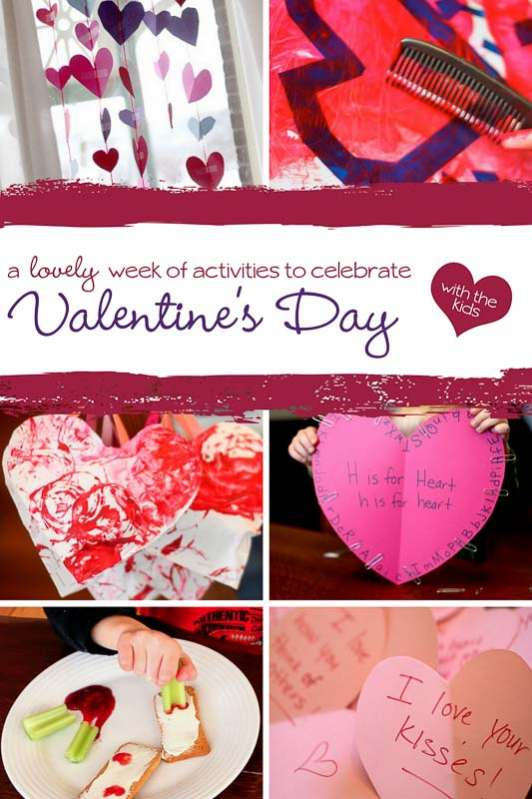 A week of Valentine's activities to do leading up to Valentine's Day! Get the list, supplies and how to here.