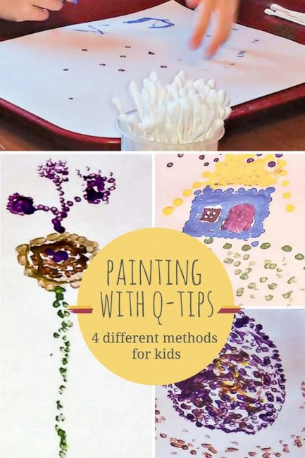 These Are Some Fun Ways For Kids To Paint With Qtips