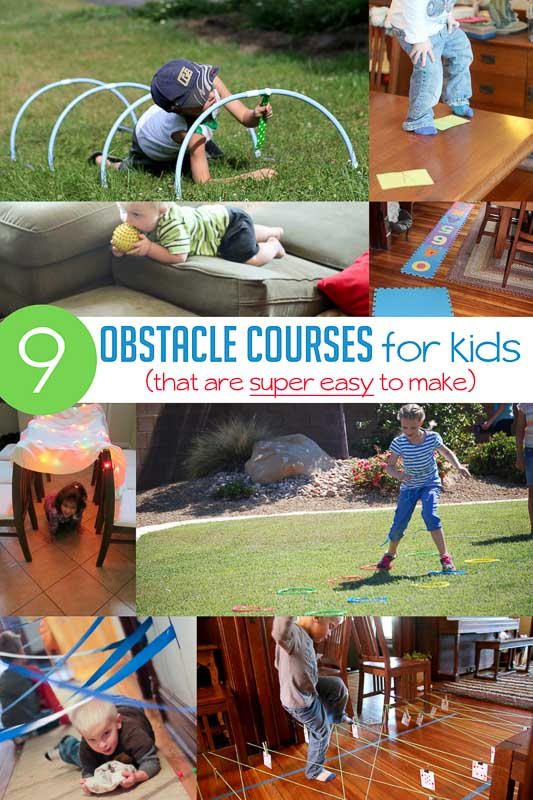Obstacle Course For Kids Ideas That Are Super Simple