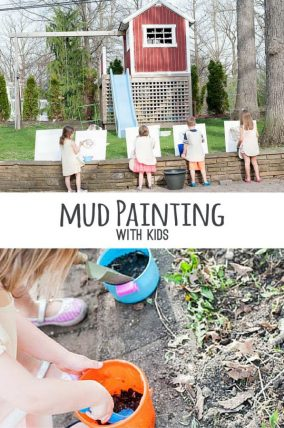 Easy and fun mud painting with kids.