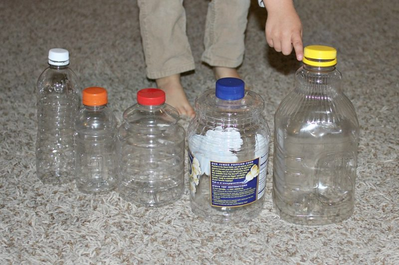 Bottles in a sequence