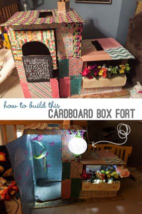 How to Build a Fun Cardboard Box Fort