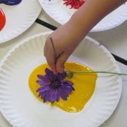 Paint With A Bouquet Of Flowers Teach Preschool