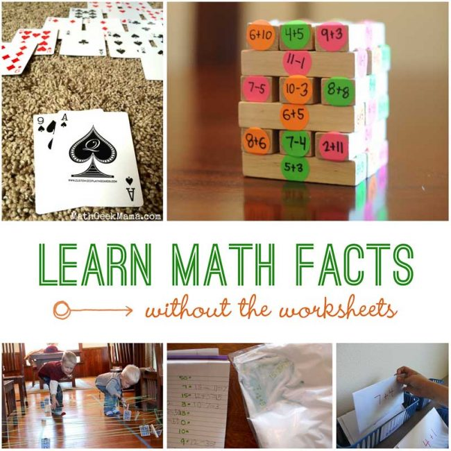 Learning Math Facts Is Fun Without Worksheets