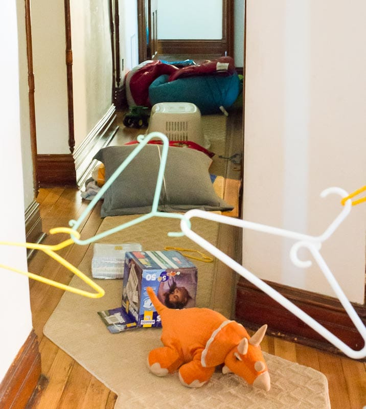obstacle course for kids, made by the kids