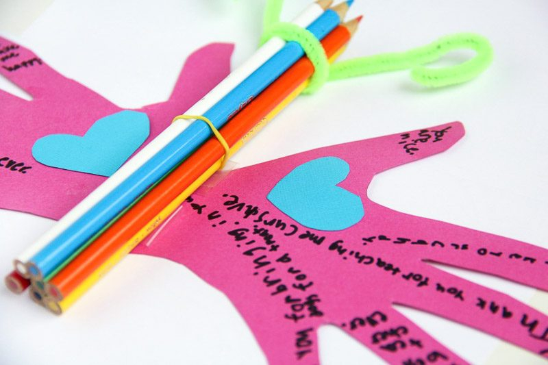 Kids can make this butterfly teacher appreciation craft for an end of the school year gift idea!
