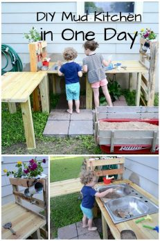 How to make a DIY mud kitchen in one day -- and play with it!