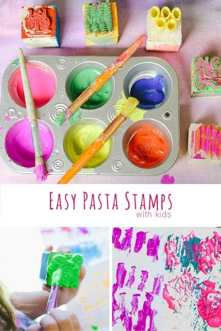 Make fun and easy DIY stamps with kids.