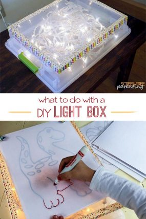 Clever Uses for a DIY Light Box for All Ages