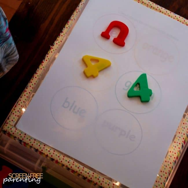 Try tracing on the DIY lightbox for simple screen-free fun!
