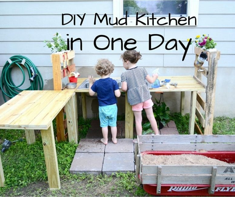 Build A DIY Mud Kitchen For Your Kids In Just One Day