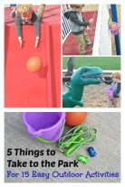 Head to the playground - but take these 5 items along to have lots of fun!
