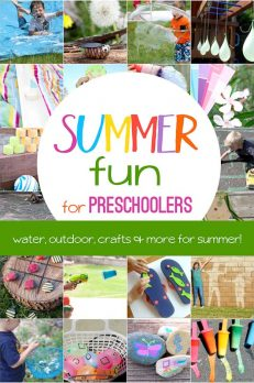 Celebrate summer with some fun ways to get wet, play outside and get crafty! Summer water activities for preschoolers, outdoor play activities for preschoolers to do this summer, as well as summer crafts for preschoolers.