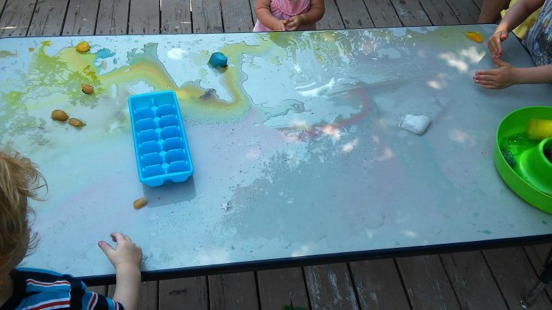 Cool summer ice activities.