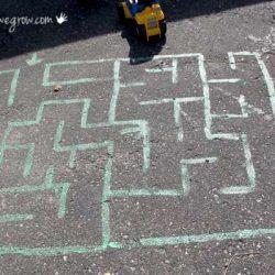 Chalk Painted Maze
