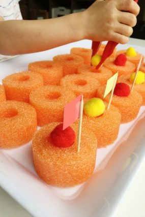 fine motor pool noodle tray