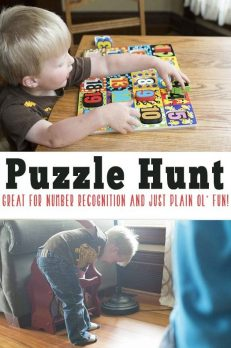 Fun puzzle game that will have your preschooler counting their way through the hunt.