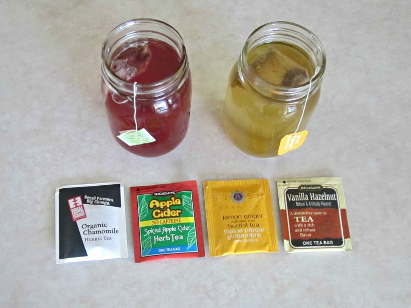 Make scented ice for sensory play with strong smelling teas.