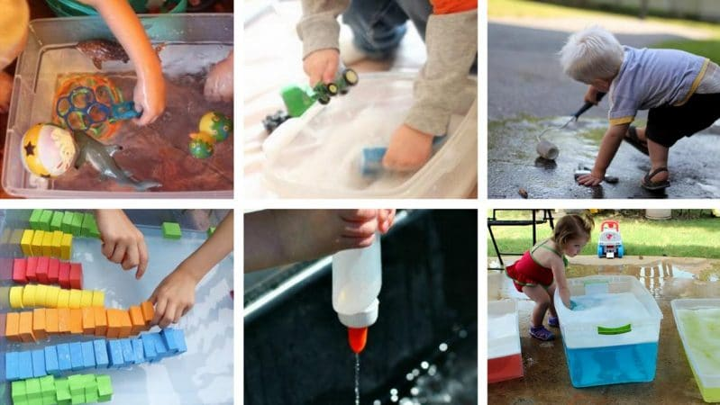 Toddler activities with water! These water activities are perfect for toddlers to do -- love!